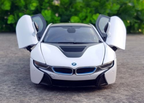 Amazing Rastar 1 24 Bmw I8 Concept Car Diecast Model White 2017 2018