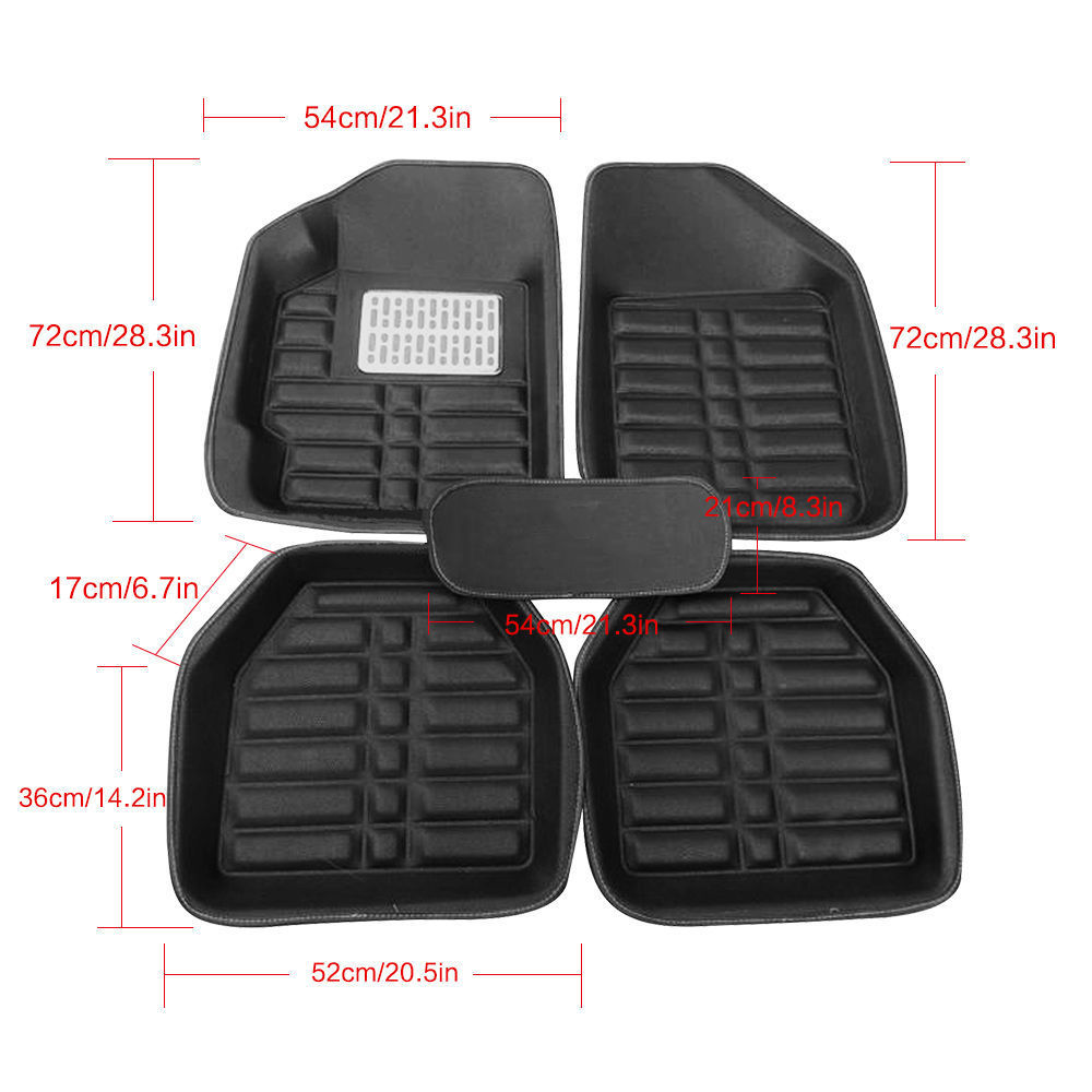 Awesome Us Black 5pc Floor Mats All Weather Universal 5