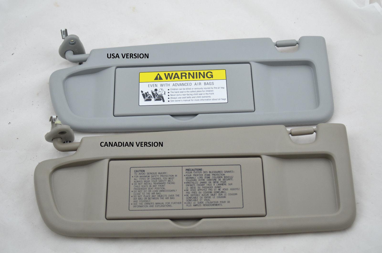 For Driver Left Sun Visor Pearl Ivory YR327L Genuine for Honda Civic 2006-2008