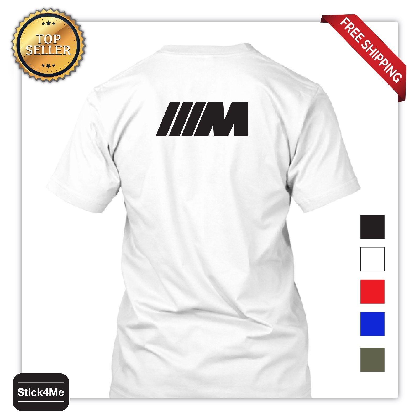 BMW M3 M5 M logo car racing T-shirt high-quality Sports Car Lover 100/% Cotton