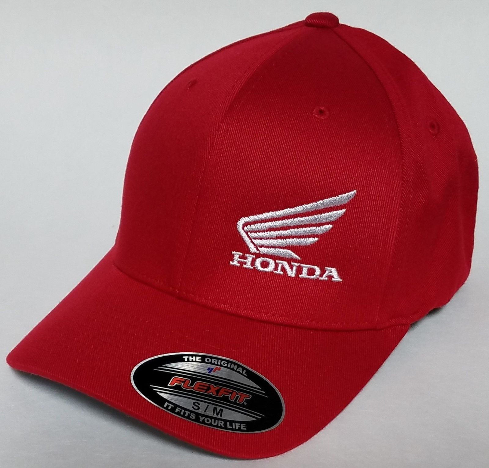 38da77a3c72 Great Honda MC Wing FLEXFIT Baseball Hat Cap Honda Motorcycle Flexfit Style  6277 2017 2018