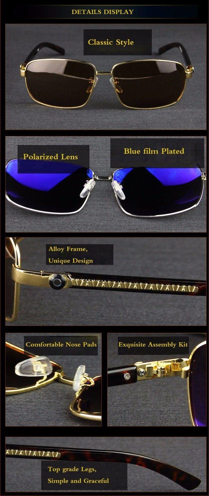9c01e5a23e8 Great NEW!!! 2017 BMW Brand Men s Sunglasses Polarized Classic UV400 ...