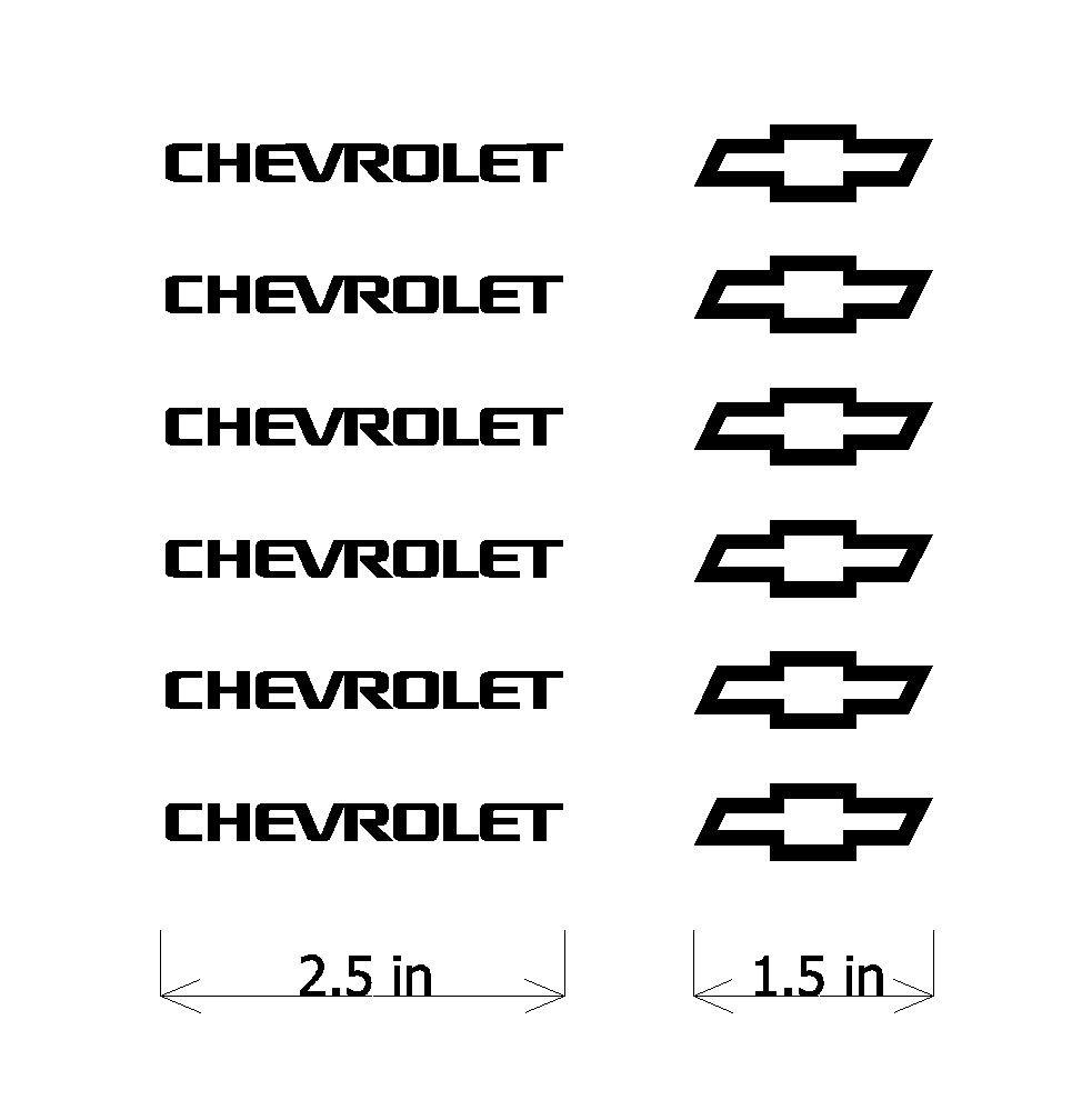 amazing set of small chevrolet logo vinyl decals chevy