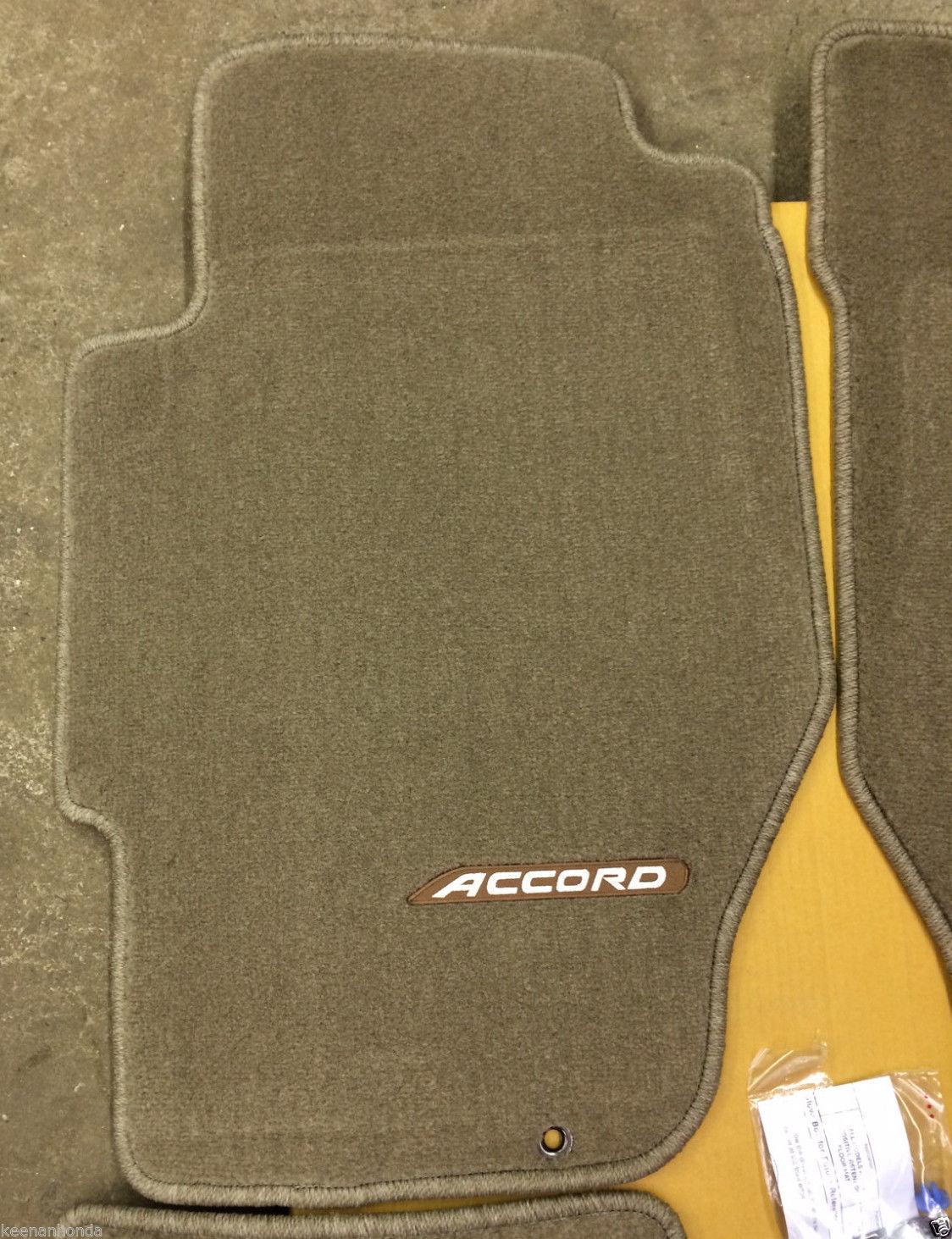 Honda Accord Sedan >> Amazing Genuine OEM Honda Accord 4dr Sedan Beige Tan Carpet Floor Mat Set 1998-2002 Mats 2017 ...