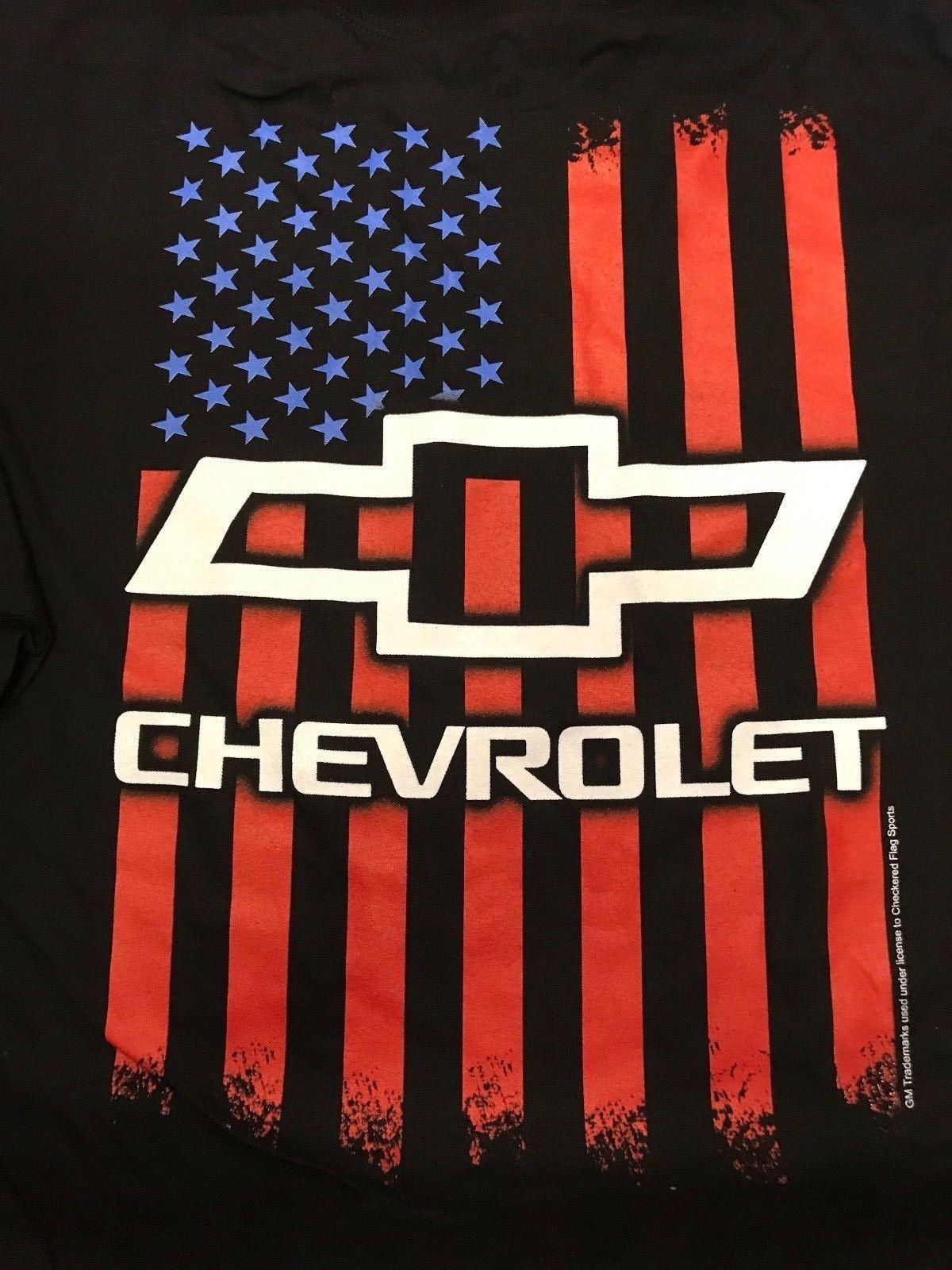 Great Chevrolet American Flag Bowtie Emblem T-Shirt Camaro ...