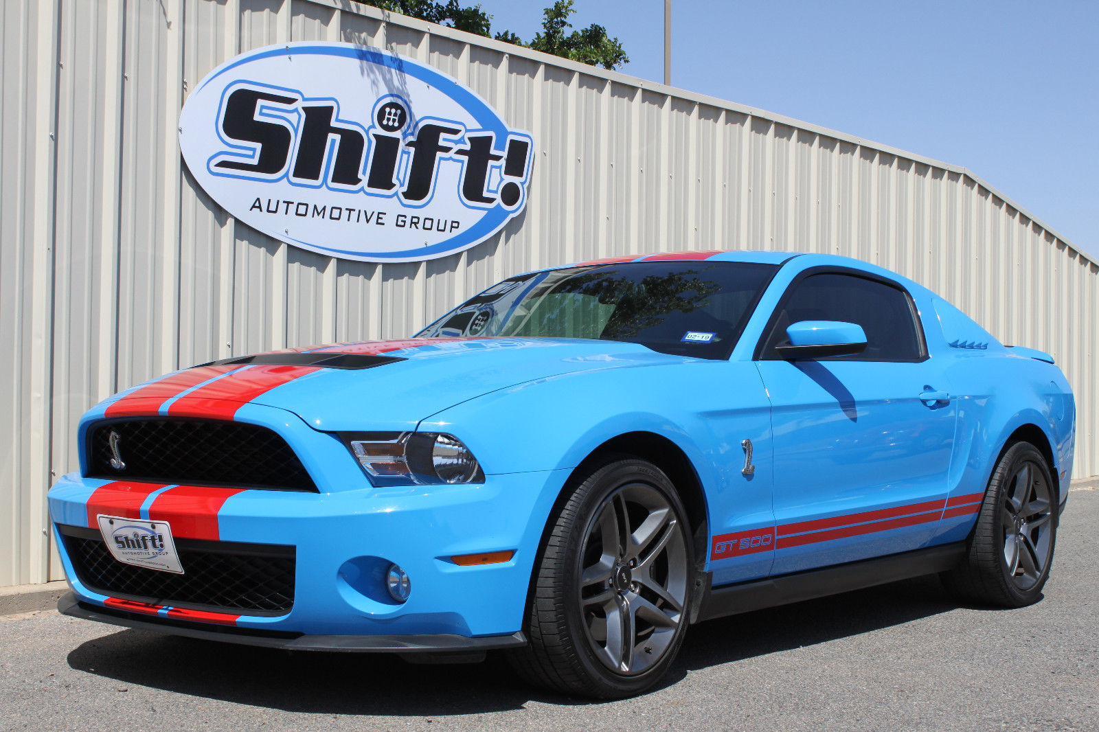 Great 2010 Ford Mustang Shelby Gt500 Only 12k Miles Grabber Blue Red Stripes 2018 2019