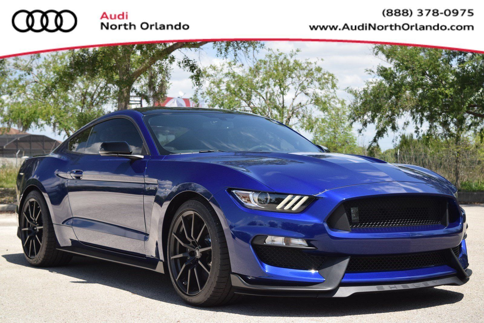 Awesome 2016 Ford Mustang Gt350 Shelby Tech Pkg Cooled Seats Black Roof Deep Impact Blue 2017 2018