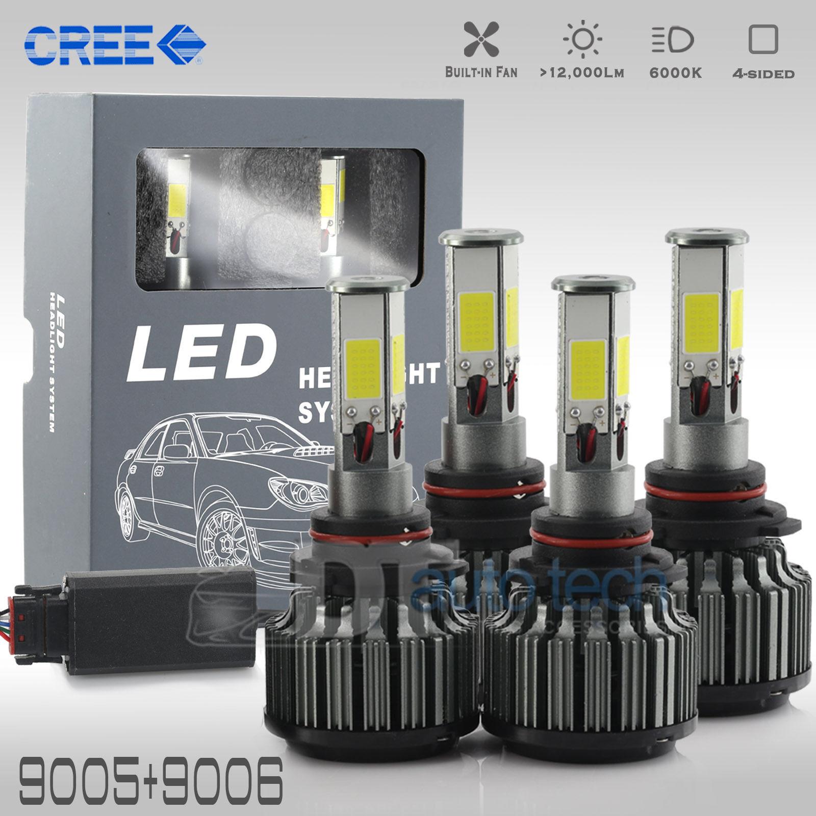 Amazing 9005+9006 Combo 240W 24000LM CREE LED Headlight Kit High & Low Beam  Light Bulbs 2018-2019