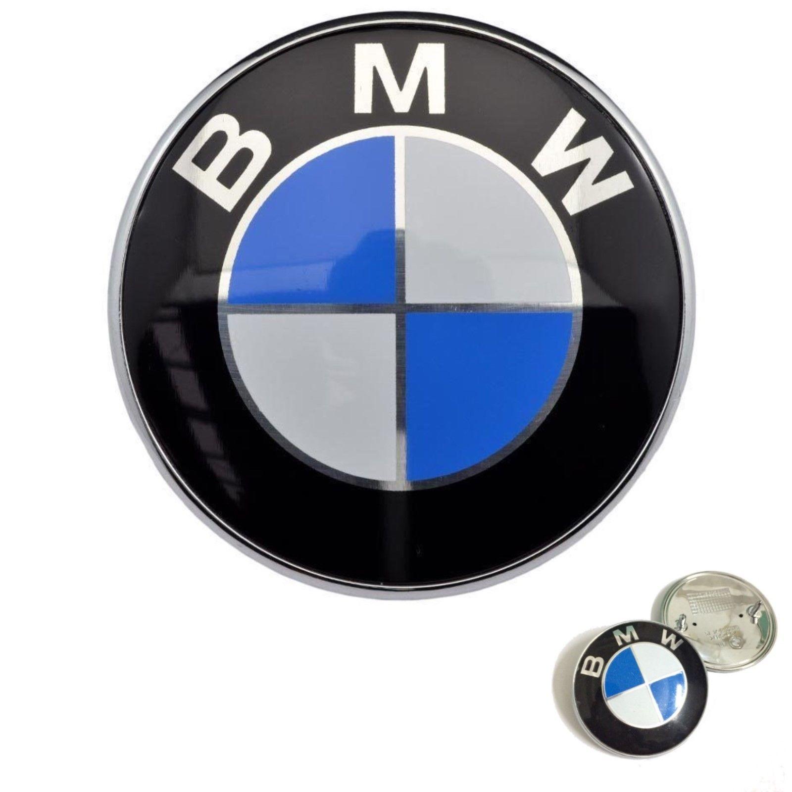 awesome bmw emblem hood badge chrome front logo 82mm 2. Black Bedroom Furniture Sets. Home Design Ideas