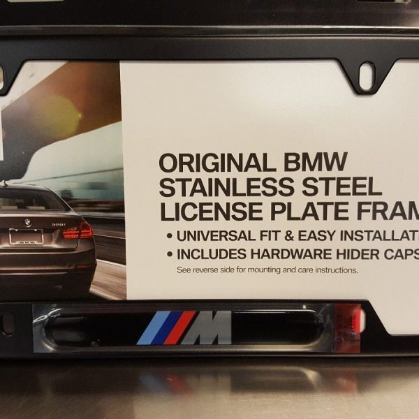 Amazing BMW M LOGO LICENSE PLATE FRAME – BLACK STAINLESS STEEL 2017 ...