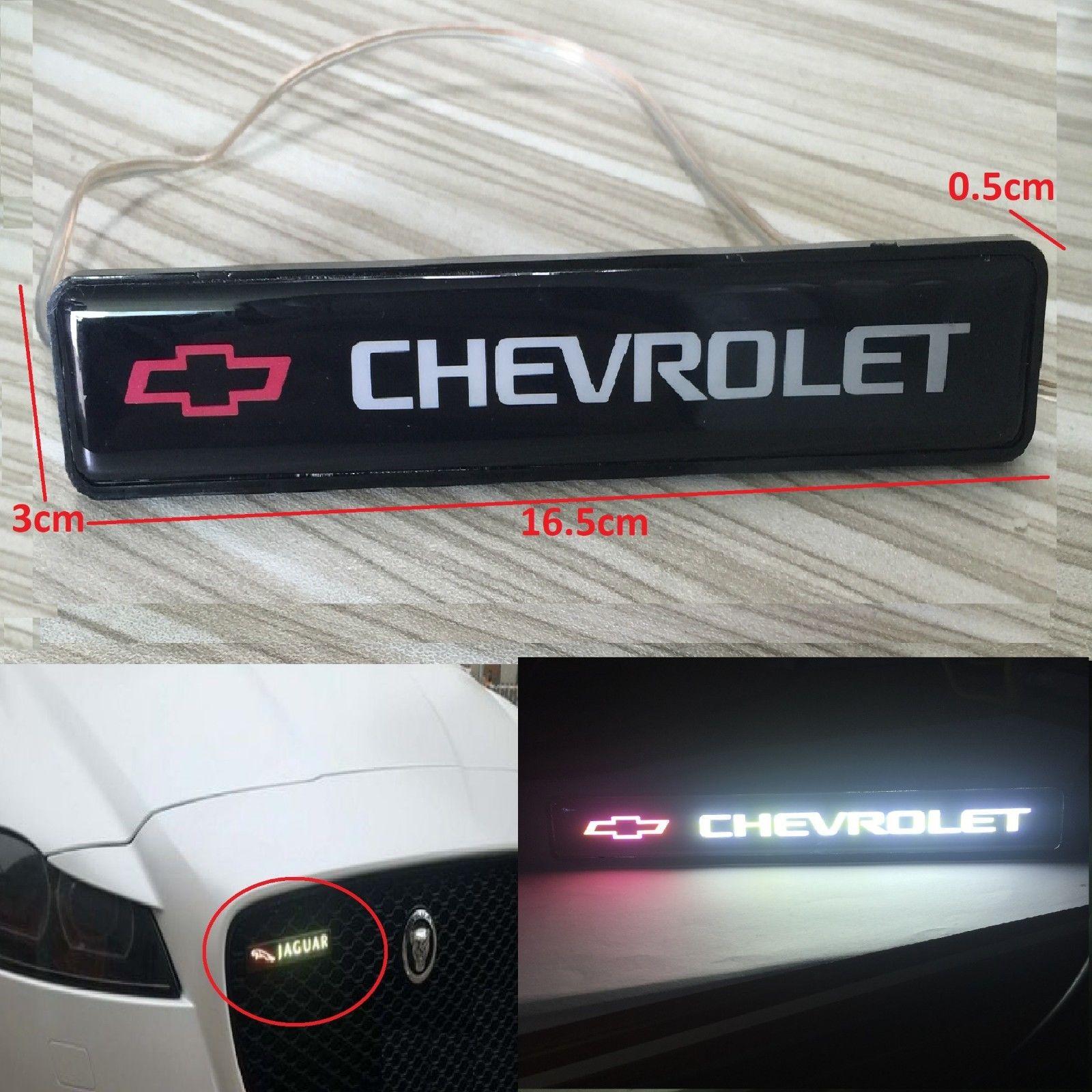 Amazing Chevrolet Logo Led Light Emblem Car Front Grille Badge For