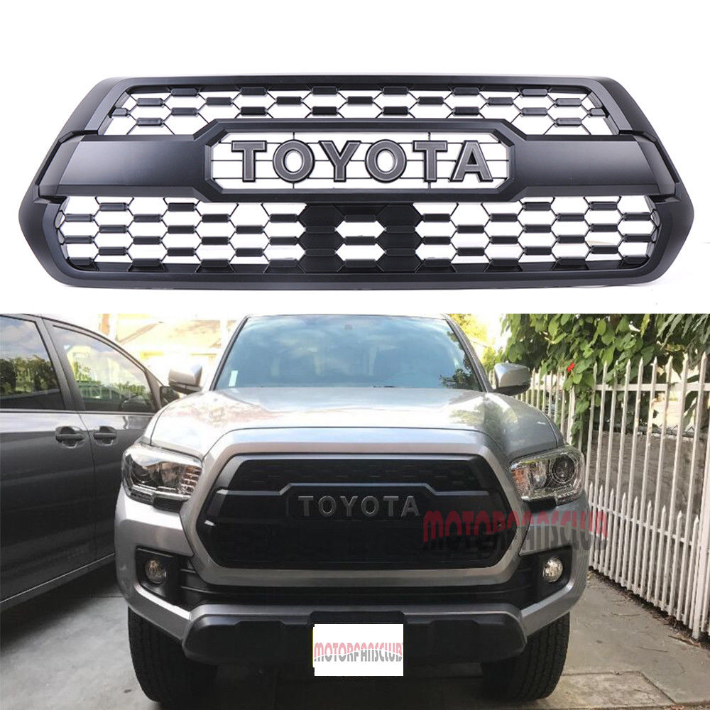 Awesome Front Bumper Hood Grille Black For Toyota Tacoma