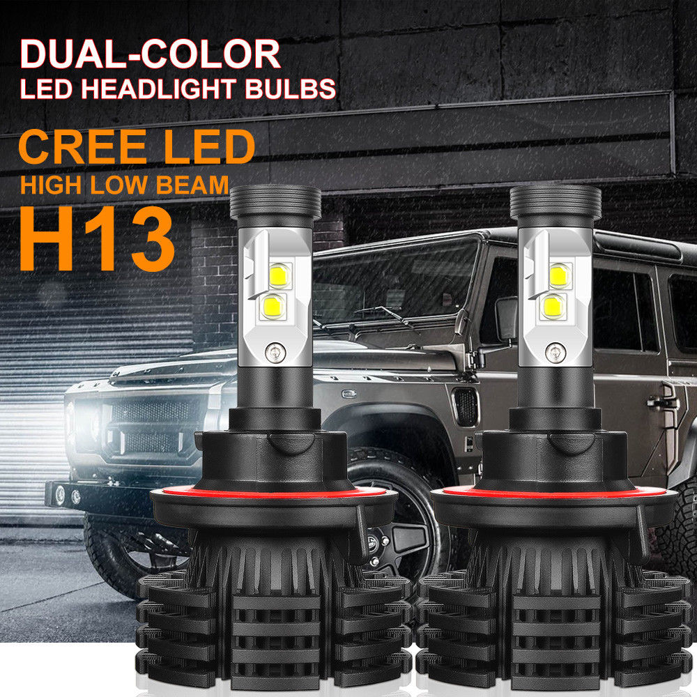 H1 1300W 195000LM CREE LED Headlight Kit High //Low Beam Xenon 6000K Power