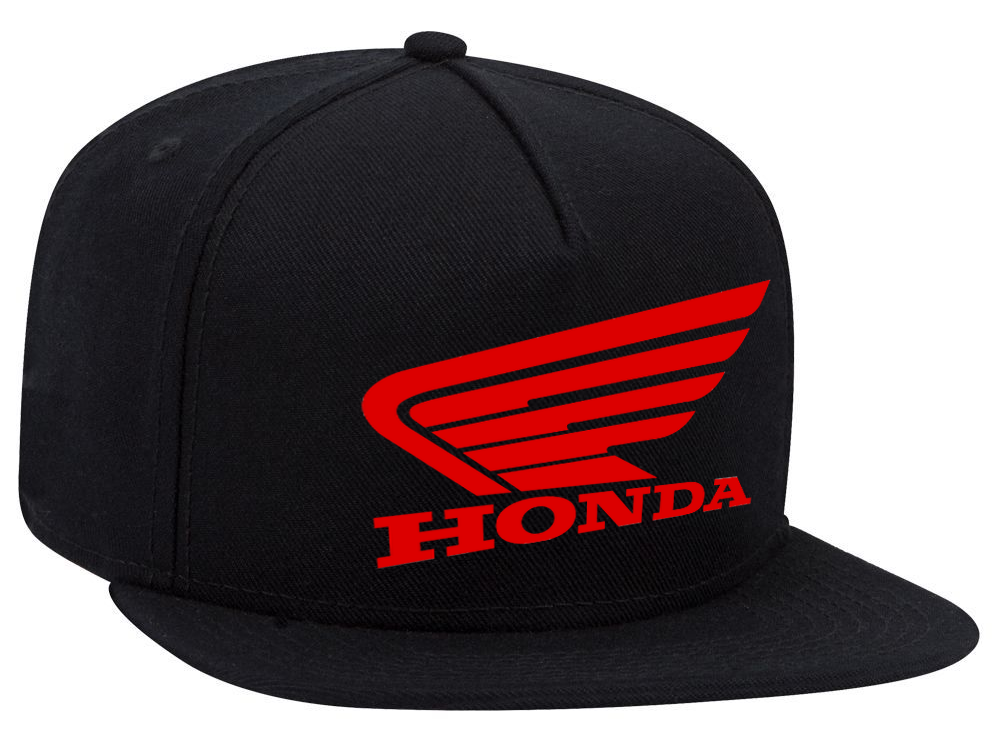 93f054092163c Great HONDA Motor Adjustable Snapback Flexfit Black Wool Baseball Flat  Visor Cap NEW! 2017 2018