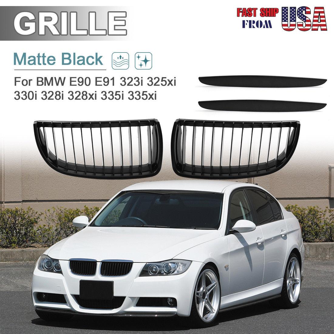 Amazing Matte Black Front Kidney Grill Grilles For Bmw 05 08 E90 E91 325i 328i 335i 330i 2018 2019