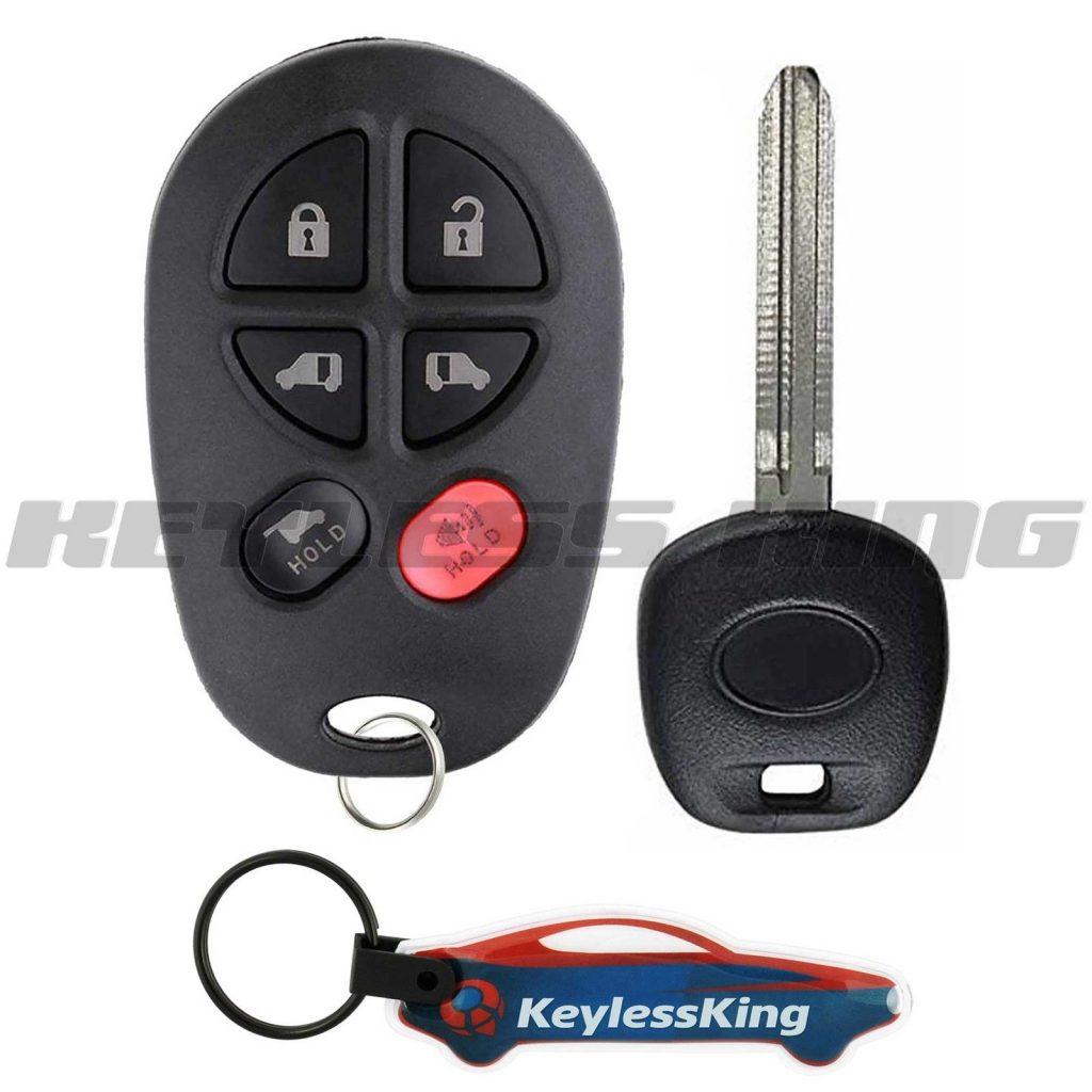 2 For 04 05 2006 2007 2008 2009 2010 2011 2012 Toyota Sienna Remote Car Key Fob