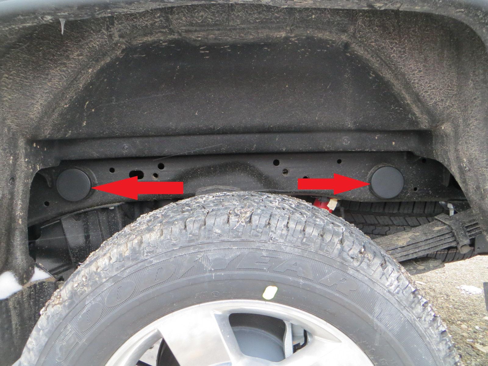 set of 4 frame plugs Sierra GMC 1500 Chevrolet Silverado 1500 99-2018 Accessory
