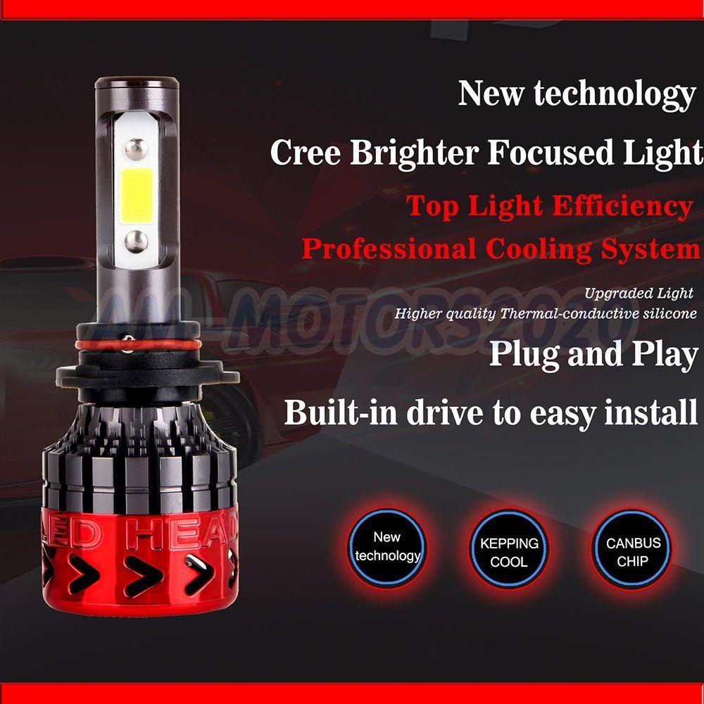 Great 2018 Cree LED Headlight Kit 9006 HB4 9012 400W 6000K 40000LM Bulbs  Pair HID 2017/2018