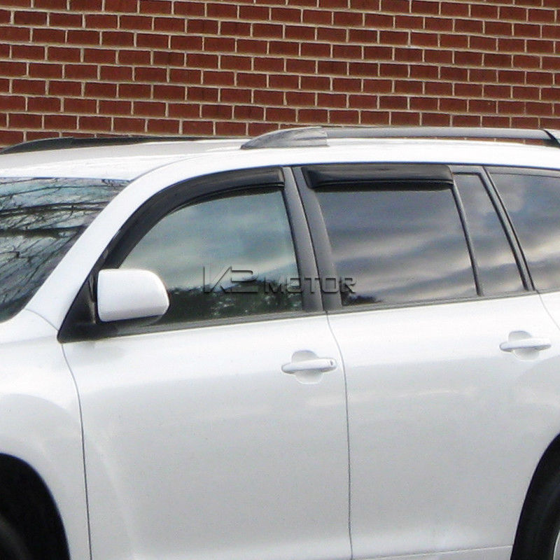 For 2008-2013 Toyota Highlander Window Visors Rain Guard Vent Shade Deflector x4