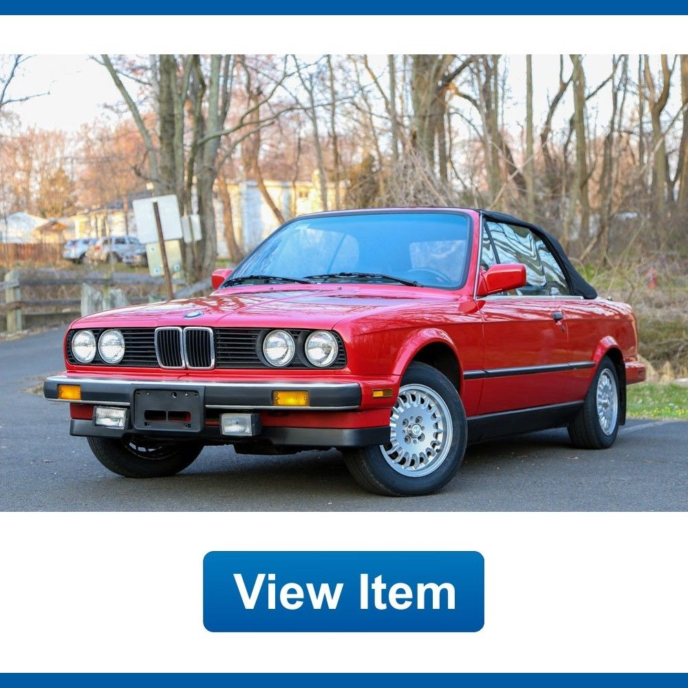 Awesome 1987 Bmw 3 Series E30 Convertible Sport 5speed Manual 325i Serviced Collectible 2017 2018