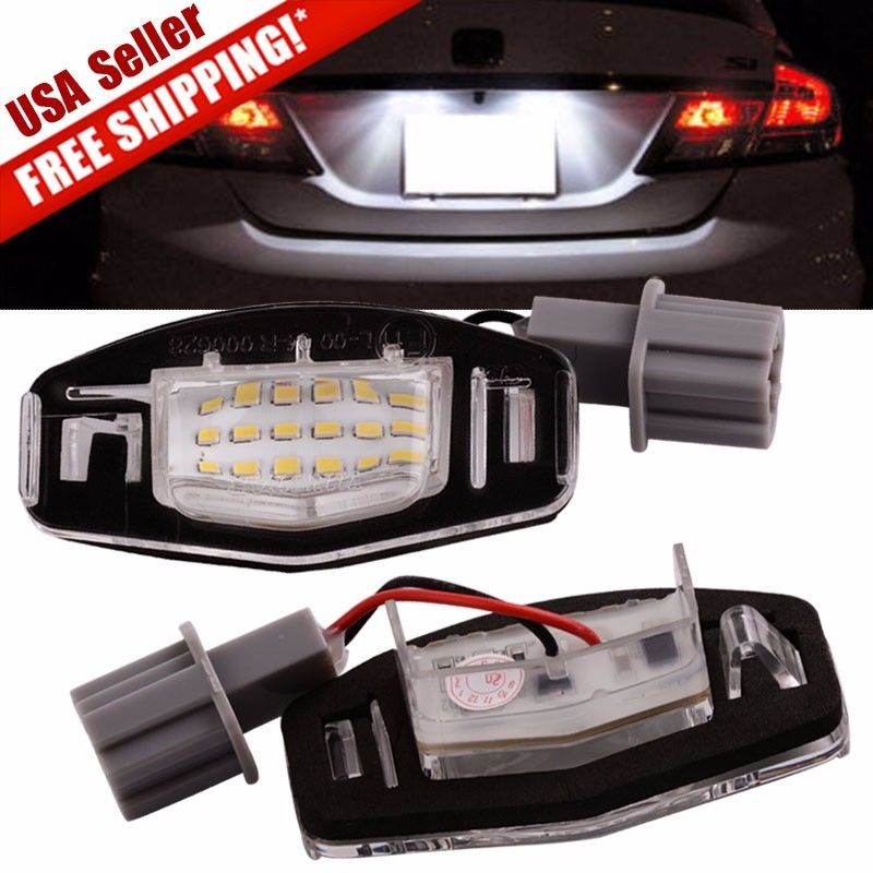 2x 18 LED License Plate Light Direct Fit For Acura TL TSX