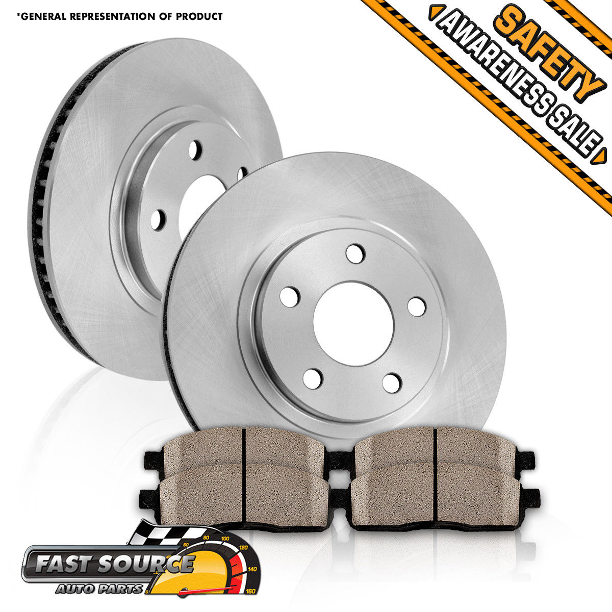 Awesome Front OE Rotors And Ceramic Pads 2002 2003 2004 2005 2006 Toyota  Camry LE SE XLE 2017 2018