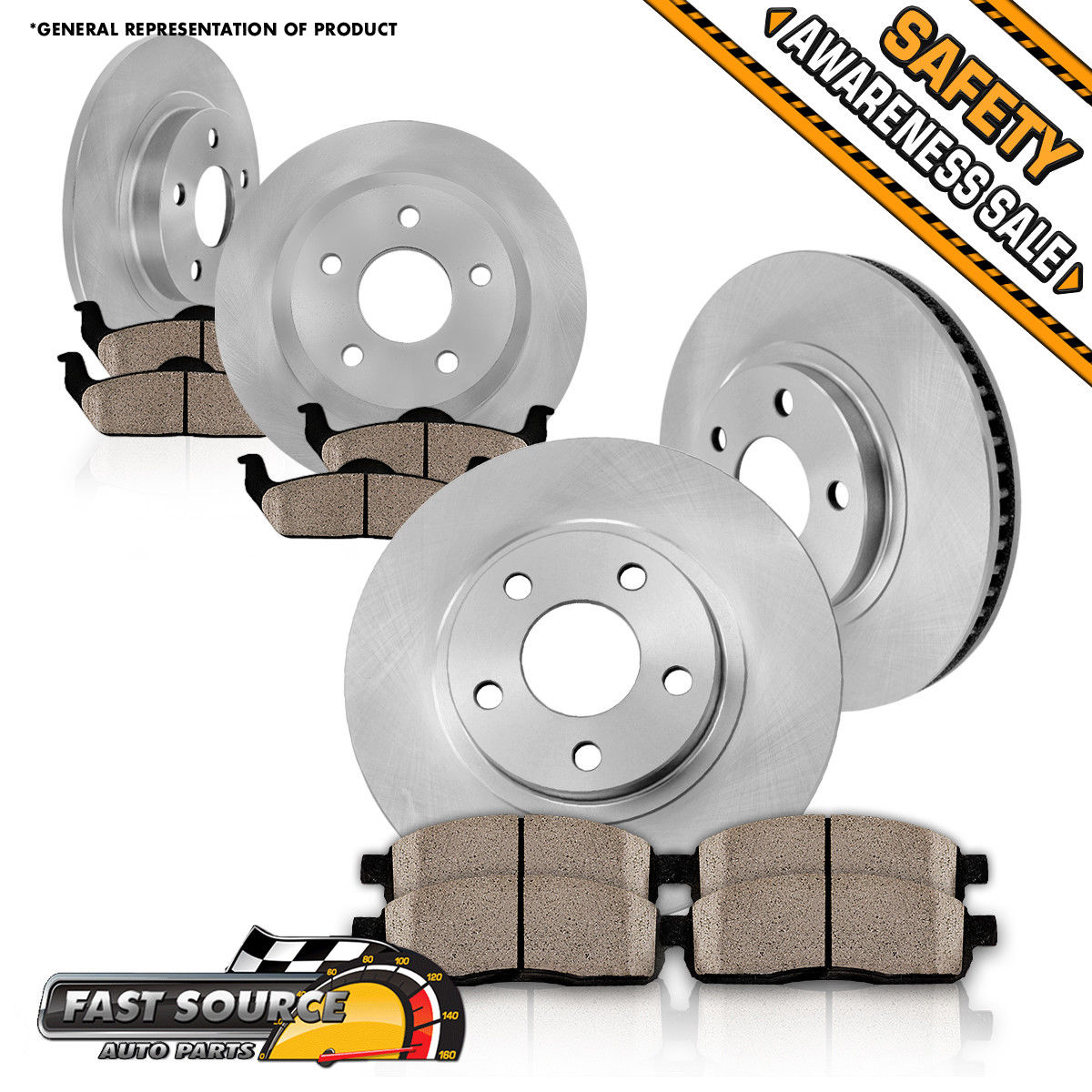 For Toyota Avalon Camry SE XLE Sienna Solara Front Brake Rotors /& Ceramic Pads