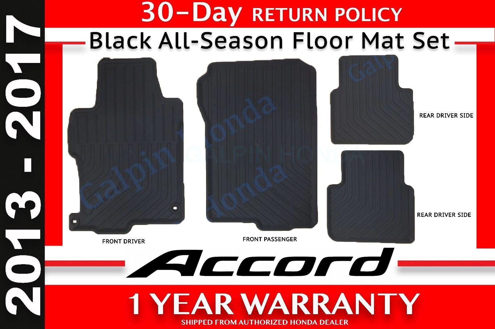 Genuine Oem Honda Accord 4 Dr Black All Season Floor Mat Set 13 17