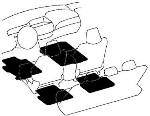 Great Genuine Oem Honda Accord 4 Dr Black All Season Floor Mat Set