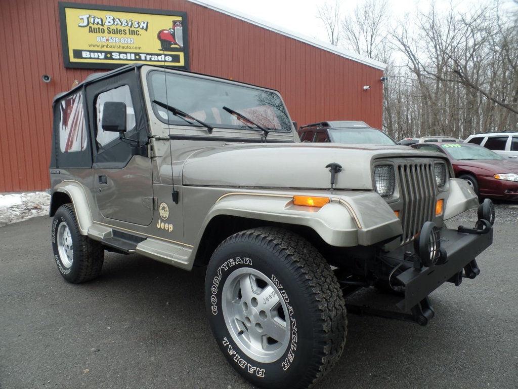 Awesome Jeep Wrangler Sahara 4x4 1991 YJ 40L 5 Speed Manual Rust Free Low Miles 70 Photos 2018 2019