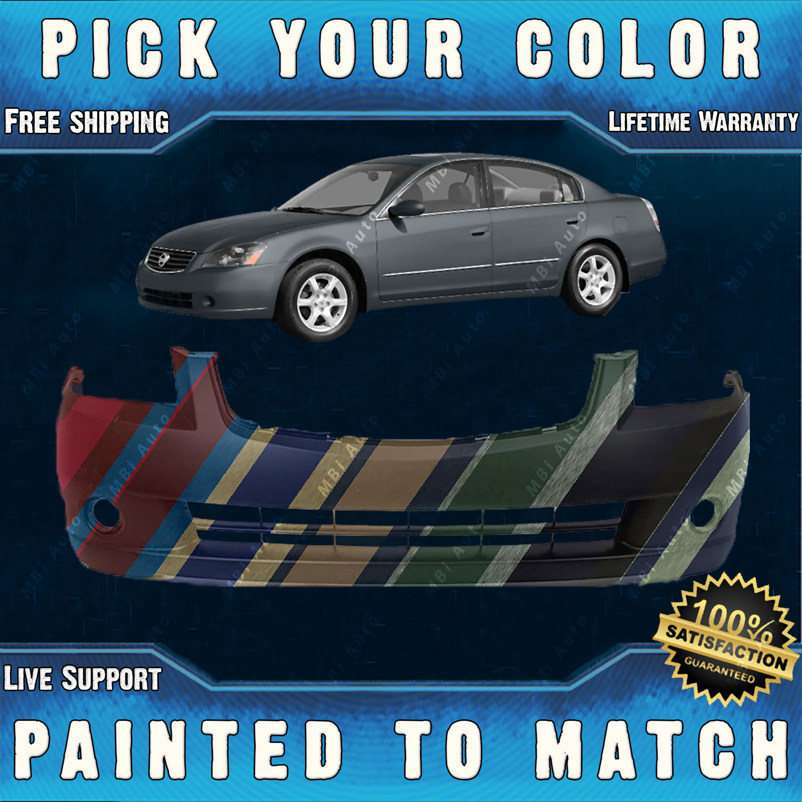 Awesome NEW Painted to Match – Front Bumper Cover For 2005 2006 Nissan  Altima Sedan 2018-2019