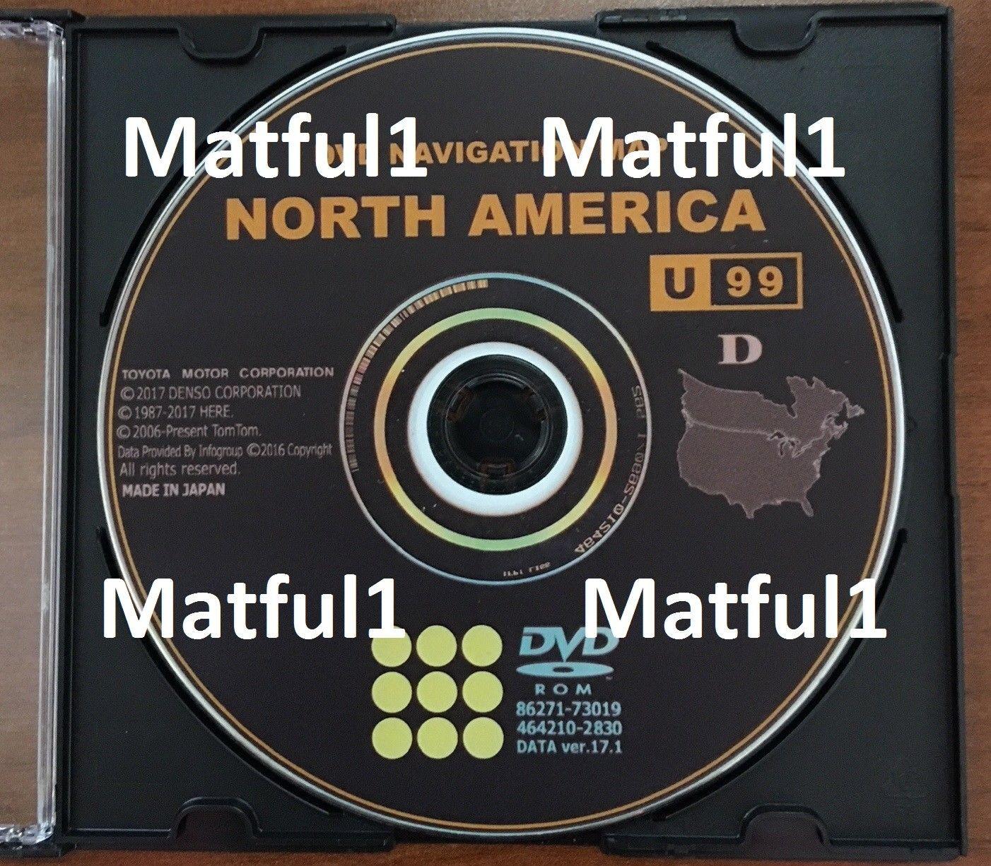 on dvd navigation map north america toyota