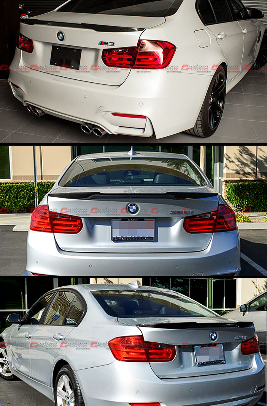 Great For 2012-18 BMW F30 3 Series 335i 328i Carbon Fiber M4 Look Style  Trunk Spoiler 2018