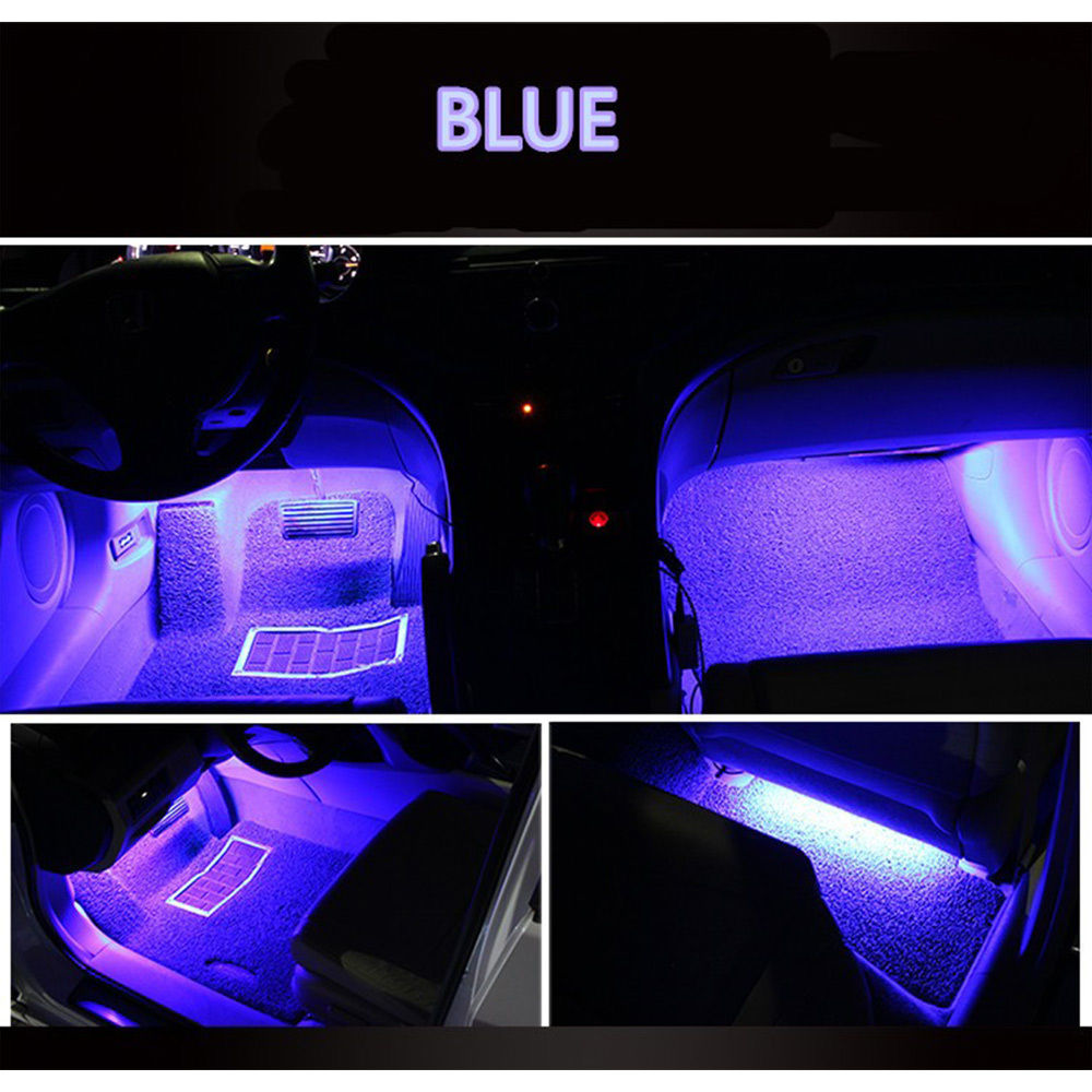 Car Led Interior Lights For 2019 Toyota Sequoia Sienna: Awesome 4x Ice Blue 9LED Charger Interior Light