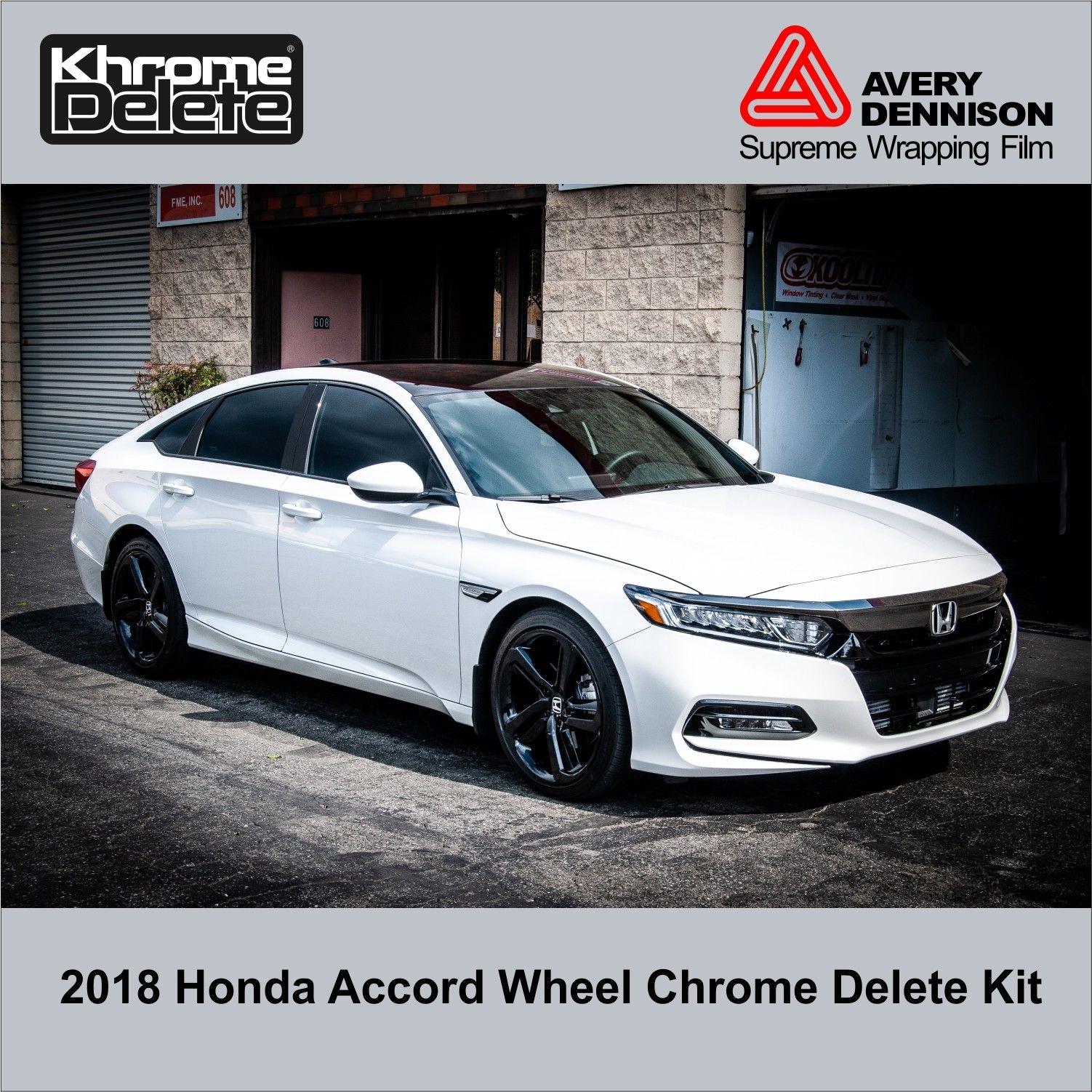 2018 Honda Accord Sedan Sport Wheel Chrome Delete Kit 2019