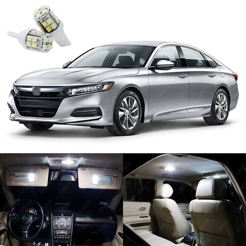 Awesome 14 X Xenon White Led Interior Lights Package Kit For Honda Accord 2017 2018 2019