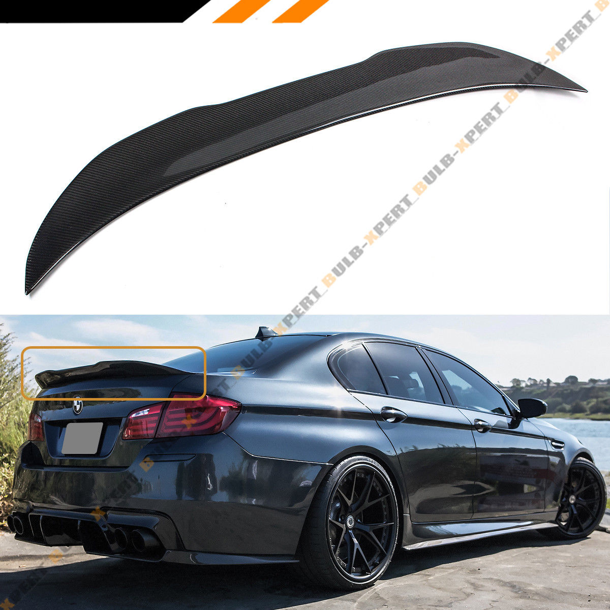 Great For 2011 16 Bmw F10 5 Series M5 Carbon Fiber High Kick Big Trunk Spoiler Wing 2019
