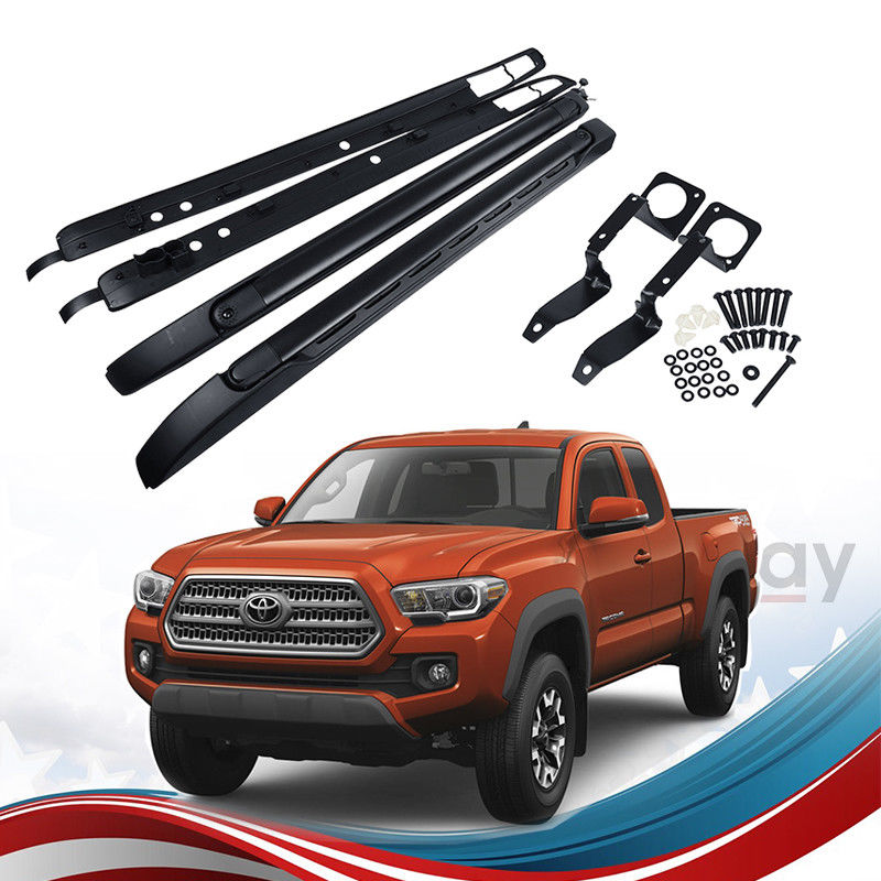 Toyota Tacoma Roof Rack Double Cab >> Great For 2005 2018 Toyota Tacoma Double Cab Top Roof Rack Side Rails Cross Bars 2018