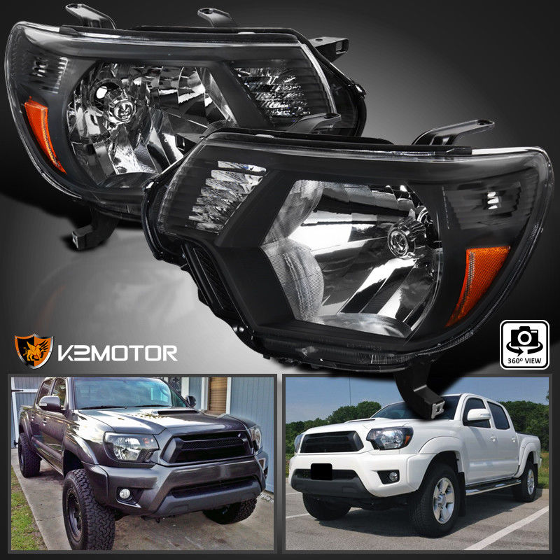 Awesome For 2017 Toyota Tacoma Black Headlights Pickup Factory Replacement L R 2019