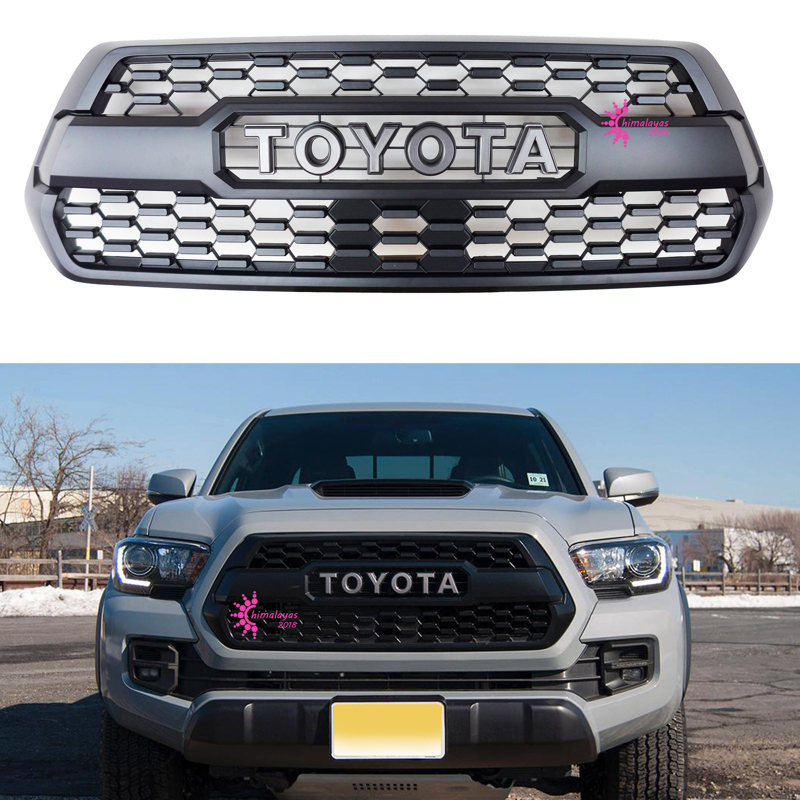 Great Front Grill Per Matte Black For Toyota Tacoma Trd Pro Style 2016 2017 2018