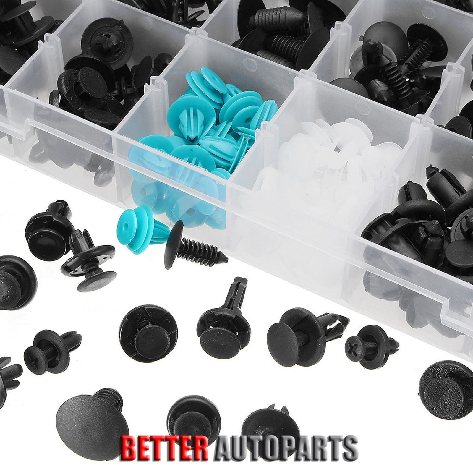 299Pcs Plastic Car Body Push Pin Plastic Rivet Fastener Trim Moulding Clip Door