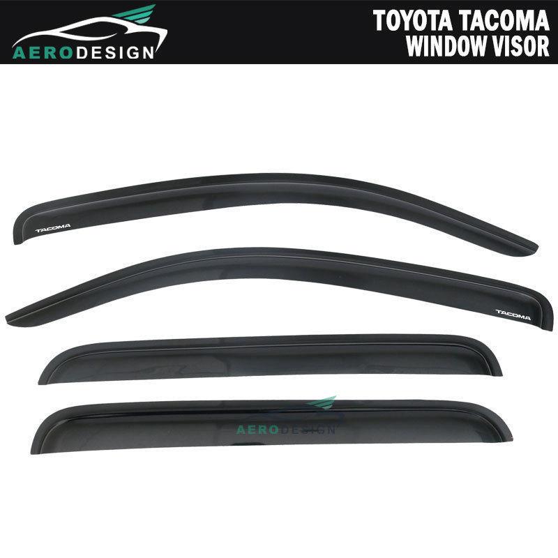 For 05-15 Toyota Tacoma Double Cab 4Dr Slim Window Visor Vent Shade Deflector