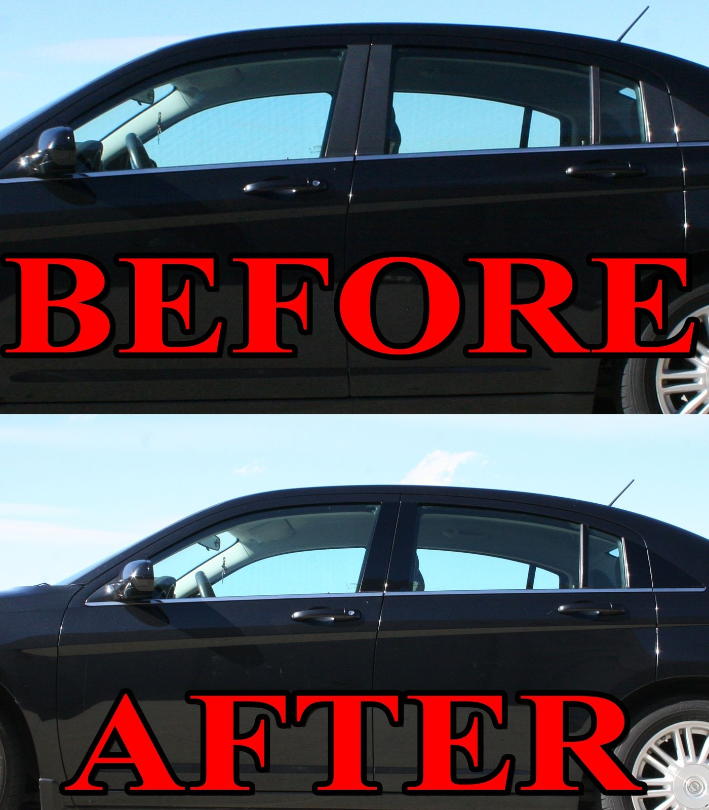 04-09 6pc Set Door Trim Cover Kit Black Pillar Posts for Mazda 3 5dr Hatch