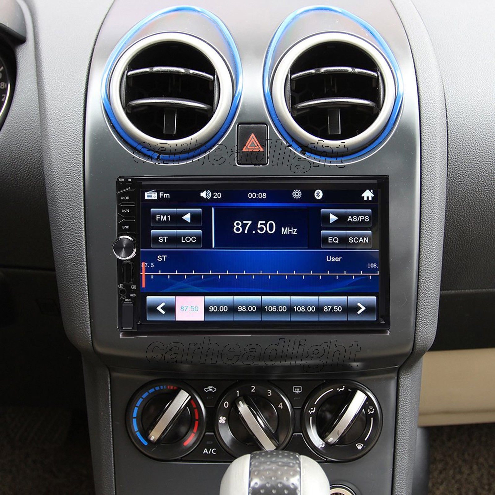 Great 7 Inch Double Din Bluetooth Car Stereo With Backup Camera