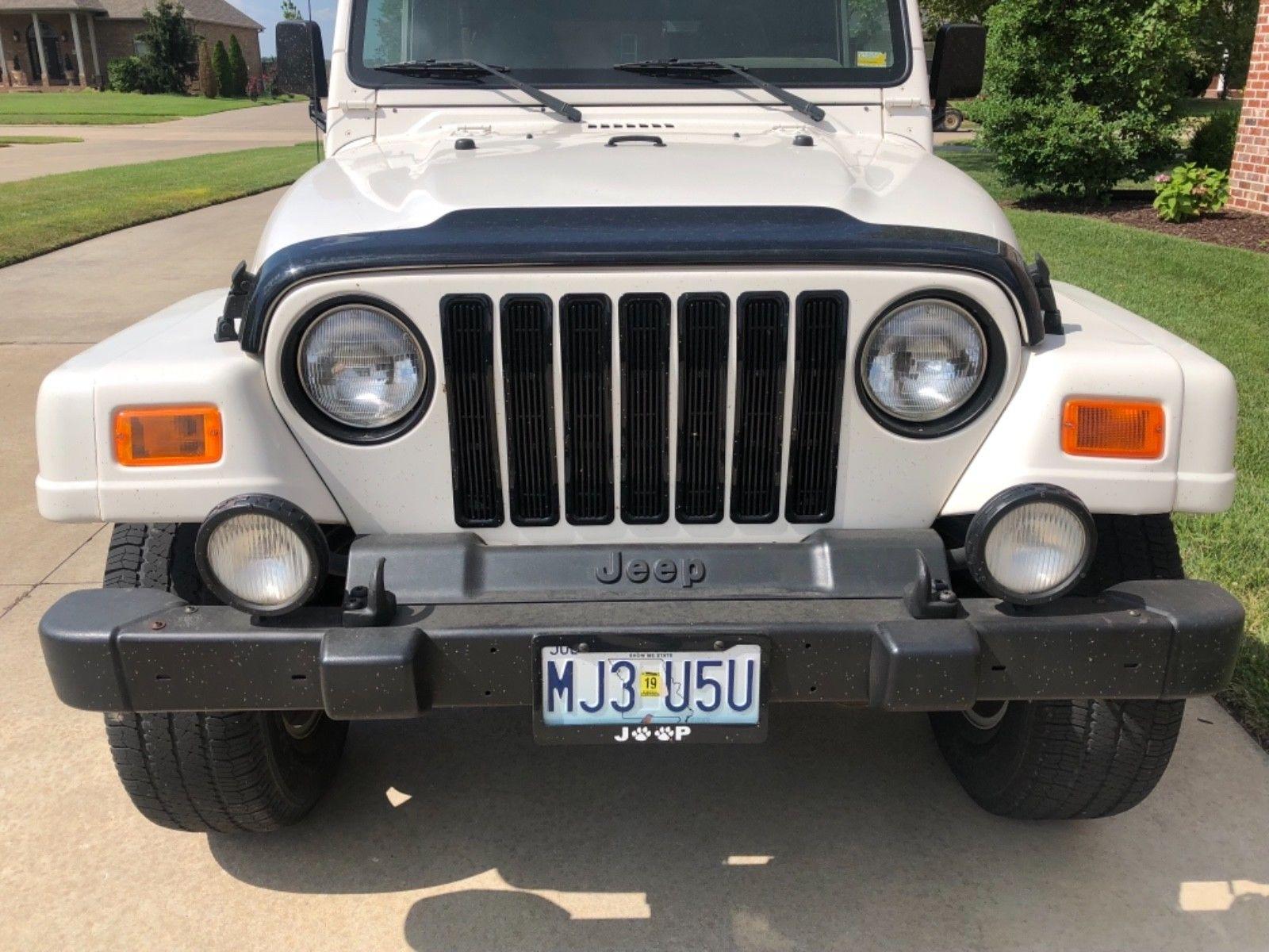 Awesome 2001 Jeep Wrangler Sahara TJ 2001 Jeep Wrangler Sahara TJ White Tan  Hard Top / Soft Top Low Miles Automatic 2018