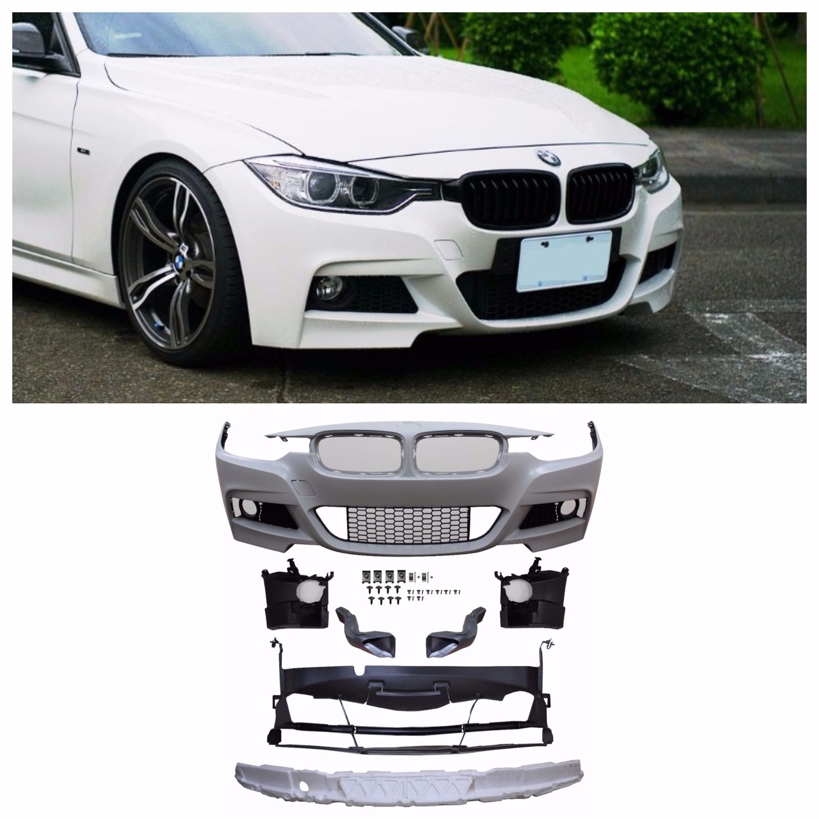 Awesome 12 16 F30 M Sport Mtech Front Bumper No Pdc For All Bmw F30