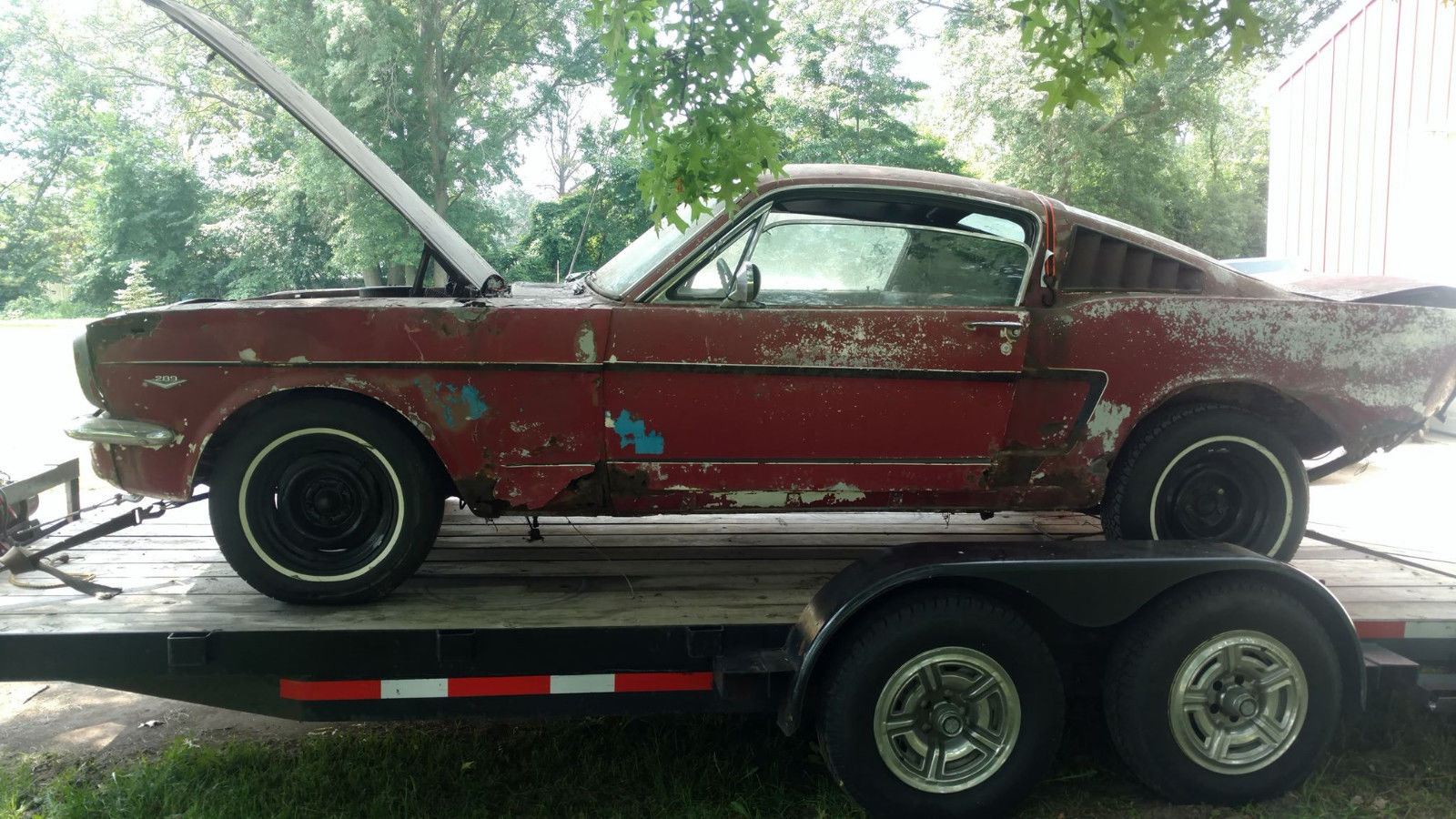 Great 1966 ford mustang 1966 mustang fastback code all complete ford needs full restoration rusty 2018