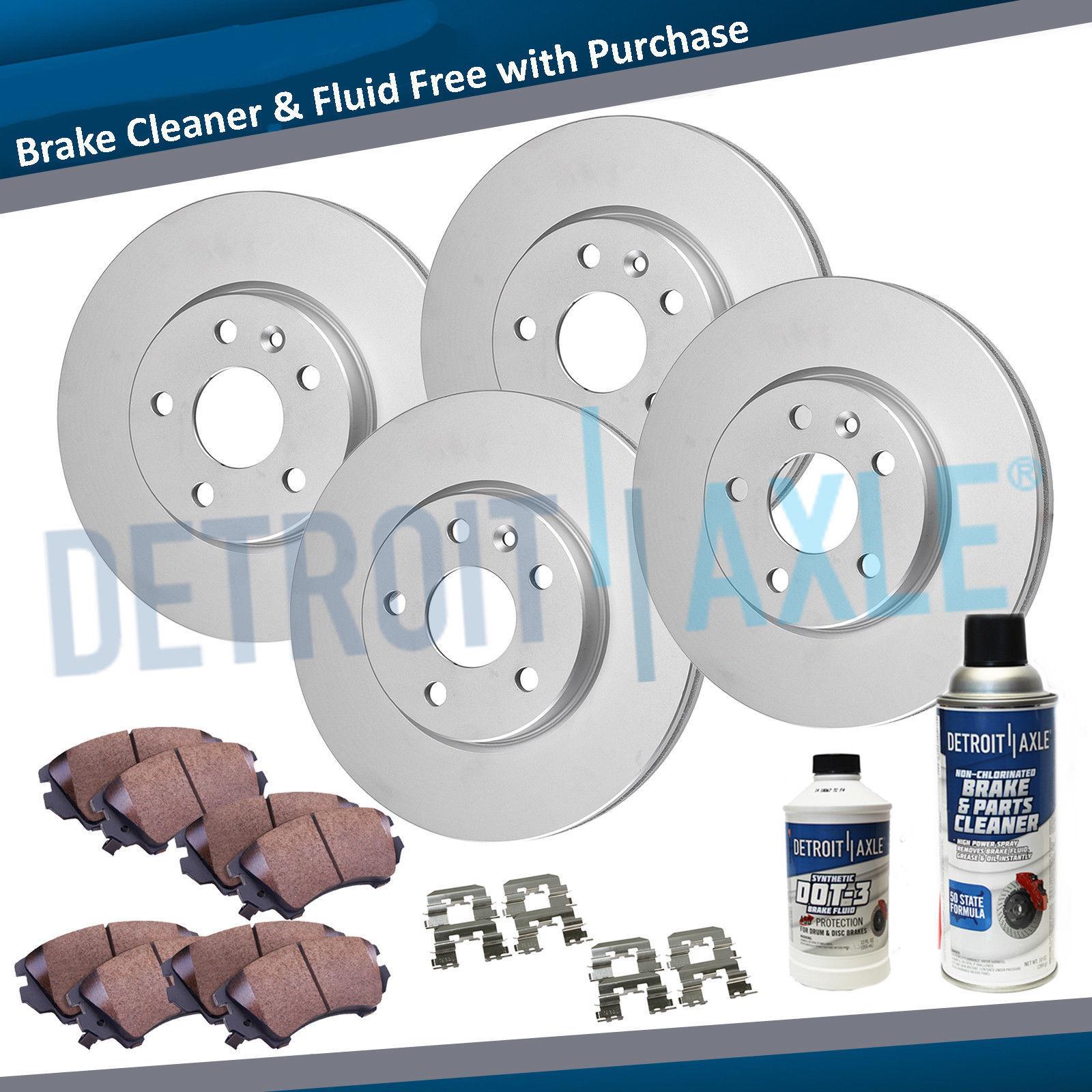 Front+Rear Brake Rotors+Ceramic Pad For Nissan Altima 2002 2003 2004 2005 2006