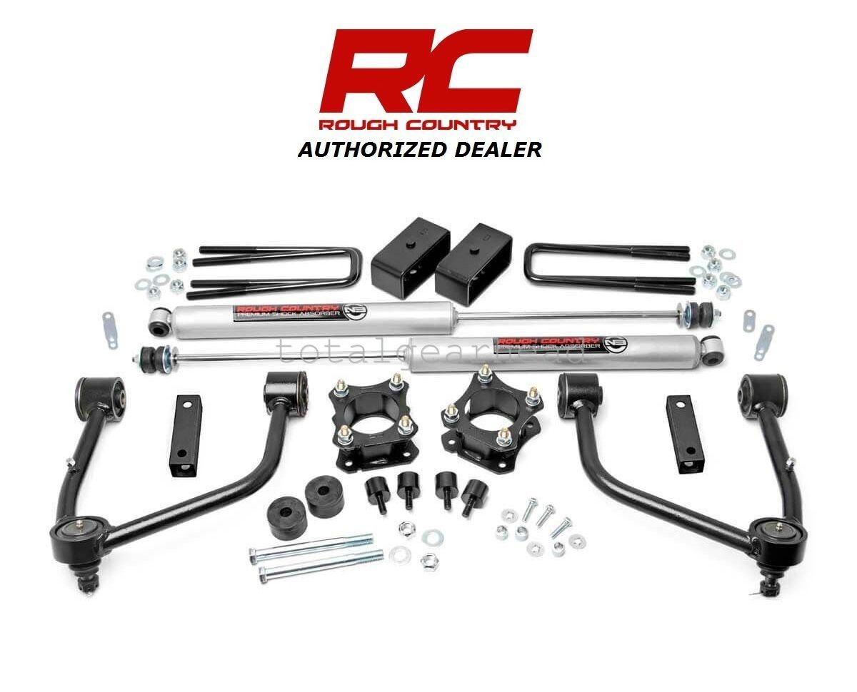 Awesome 2007-2018 Toyota Tundra 4WD 3 5″ Rough Country Bolt-On Lift Kit  w/N3 [76830] 2018