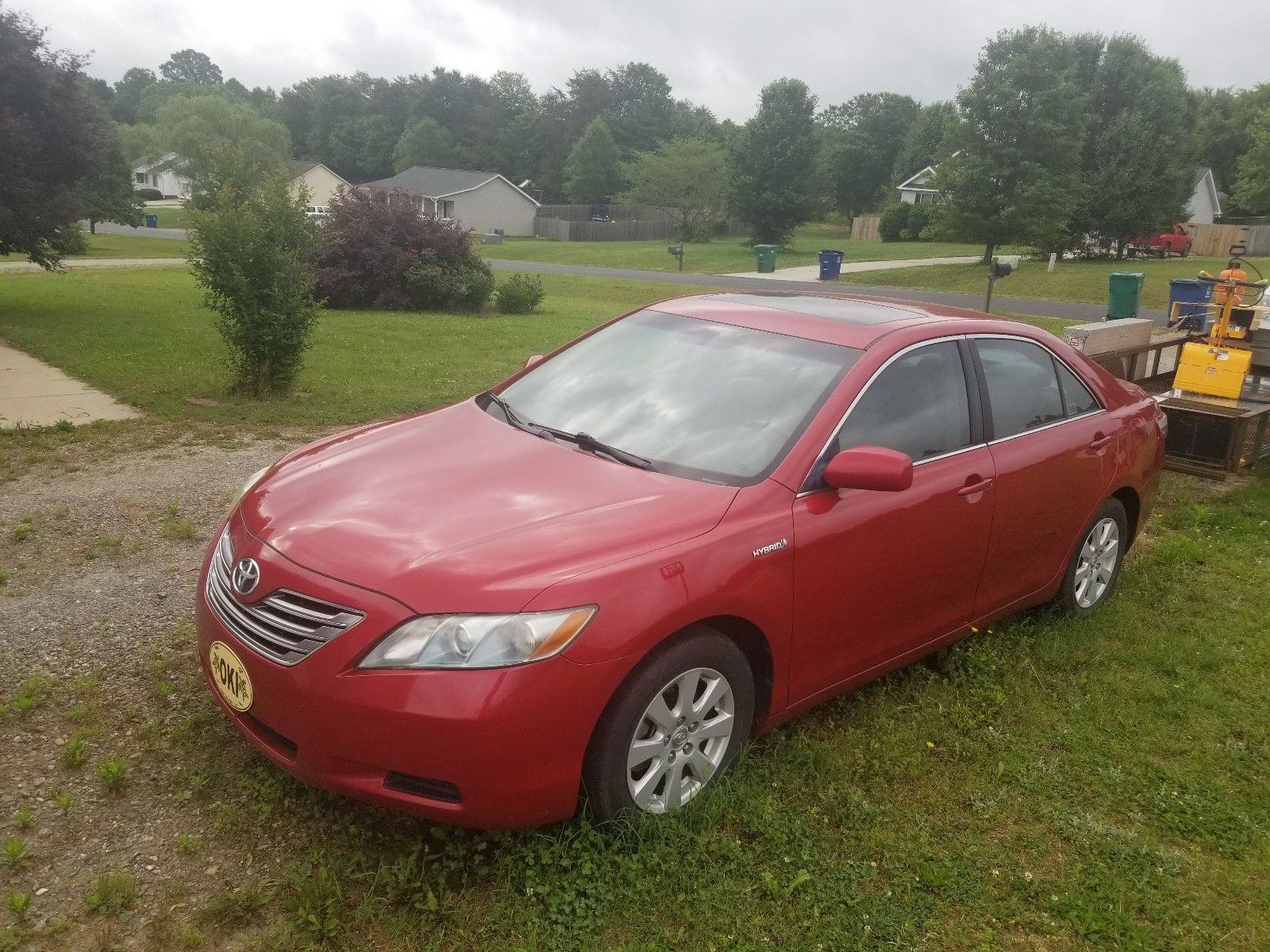 Awesome 2009 Toyota Camry Hybrid Red 2019